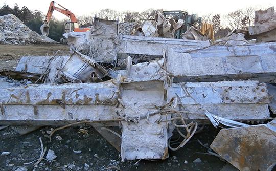 SRC造ビル解体材